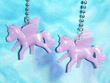 Set of Two ~ Glow-in-the-Dark Purple Flying Ponies ~ Ceiling Fan Pull Chains