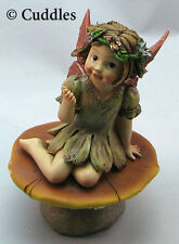 Garden Fairy Mushroom Figurine Ganz Fairy Wings Fantasy Flower Plant NEW