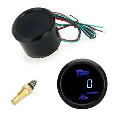 "CAR 2"" 52mm UNIVERSAL DIGITAL OIL TEMPERATURE TEMP METER GAUGE BLUE LED USA R0J6"