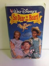 So Dear to My Heart VHS VIDEO Walt Disney Live Action & Animation Burl Ives