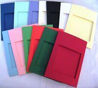 Aperture Cards Square A6 3 fold & env YOU PICK COLOUR & PACK SIZE