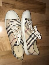Burberry womens 38 7-7.5 M Signature classic check plaid sneakers Excellent!