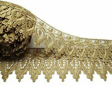"""Beige Venise  Bridal Lace Trim 3.5"""" Inches Wide Sewing Accessories By The Yard"""