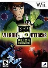 BEN 10 ALIEN FORCE VILGAX ATTACKS 2009 Nintendo WII Game Complete