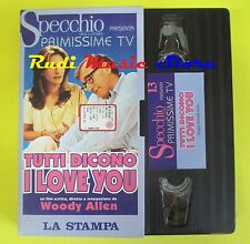 film VHS cartonata TUTTI DICONO I LOVE YOU 1997 woody allen SPECCHIO(F39)*no*dvd