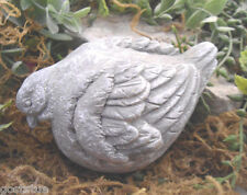 Latex only fat head down bird mold plaster concrete casting garden mould
