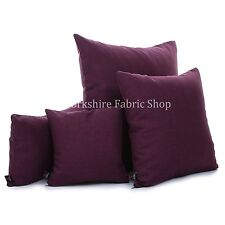 New Modern Soft Linen Effect Plain Chenille Handmade Cushion Cover & Filling