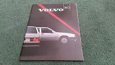 1987 Model VOLVO 760 SALOON - UK BROCHURE - GLE + TURBO DIESEL + TURBO PETROL