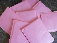25 Light Pink 4 x 8 Kraft Bubble Mailer Self Seal Pastel Envelope Padded Mailer