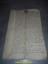 VIEUX PAPIER AU NOM DE DIEU 1769