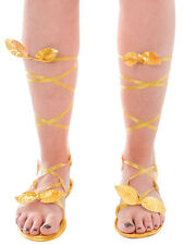 Ladies Sandals Fancy Dress Fairy Greek Roman Goddess Egyptian Adjustable New