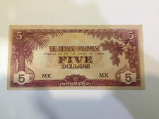 Japanese government issue dollar in Malaya 5 dollar MK (ignored the shadow)