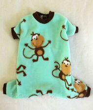 XXXS Monkey Fleece Dog Pajamas clothes PJS pet apparel teacup PC Dog®
