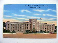 Linen Postcard Manchester New Hampshire Fire Insurance Co. Tichnor New c.1945