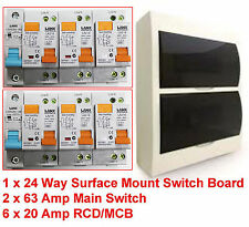 24 Pole Surface Mount Distribution Switchboard Safety Switch RCD Main Switch