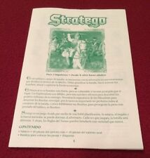 Hasbro Stratego Game Instructions (1998, Only in Spanish)