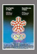 CALGARY Canada 1988 Winter Olympics Games Official Olympic Museum POSTER Reprint