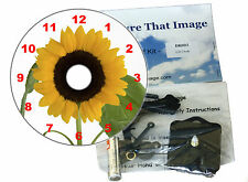 DIY CD Clock KIT. Sunflower. Can be used as a Desk or Wall Clock. Gardeners Gift