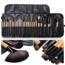 Pro 24Pcs Superior Soft Cosmetic Makeup Brush Set Brushes Kit + Pouch Bag Case #