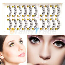 10 Pairs Makeup Handmade Soft Natural Fashion Long False Eyelashes Eye Lashes