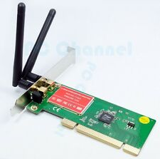 300M Wireless N PCI Card WiFi Network Lan 2 Antenna Cordless Ethernet Adapter