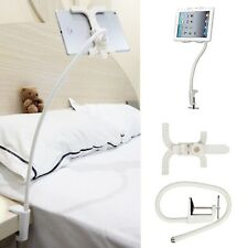 Gooseneck 360 Lazy Bed Desk Stand Holder Mount-iPad 2 3 4 Air Mini Tablet White