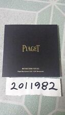 Piaget Watch Manual Instruction Booklet for Ultra Thin Movements 830P & 838P