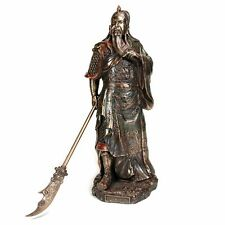 "10.5"" Guan Yu Statue Oriental Decor Door God Chinese Feng Shui Figurine"
