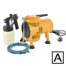 Double Diaphragm Portable Air Spray Gun Compressor KIT AS08K + Hose