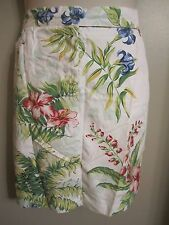 Women's Plus Tommy Hilfiger off white blue pink tropical pencil skirt Size 20