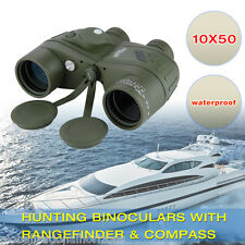 Waterproof Optics 10X50 Military Marine Binoculars Porro Prism BAK-4 w/ Compass