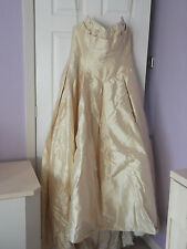 HOLLYWOOD DREAMS WEDDING DRESS - SIZE 18 IN GOLD