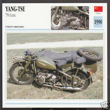 1990 Yang-Tse 750cc Luxe (745cc) China Bike Motorcycle Photo Spec Info Stat Card