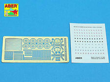 ABER 1/35 PE PHOTO-ETCHED WWII GERMAN HELMET LINERS, DECALS & CHINSTRAPS #35A69