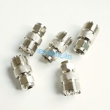 5Pcs UHF Female SO-239 Jack (SO239) to F Male Type Plug Adapter