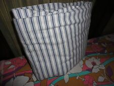 IKEA ALVINE RAND BLUE & WHITE TICKING STRIPES TWIN DUVET  62 X 76