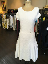 Chanel Sz 38 White Knit Fit and Flare Dress
