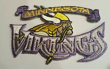 "MINNESOTA Vikings embroidered iron on patch 3.5"" x 2"" NFL FOOTBALL TEAM  LOGO"