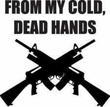 FROM MY COLD DEAD HANDS 2ND ADM Car Truck LapTop Jeep Ford Chevy Window Sticker