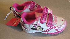 Girls Minnie Mouse Shoes~ Size 7~Toddler Disney NEW Athletic Sneakers~Glitter~