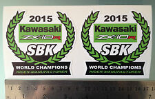2015 Mundo Super Bike Campeones Zx10r Calcomanías Stickers Para Kawasaki X2
