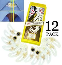12-Pk UNSTRANGLER Collar Button Extender Expander SHAPED TO FIT NECK: Adds ½""