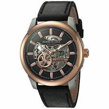 Kenneth Cole Automatic Leather 44mm Dress Watch 10031275 NEW $185.00