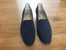 WOMEN'S BRUNO MAGLI ITALIAN MADE BLACK FINE FABRIC LOAFER SLIP ON SHOES SIZE 10M