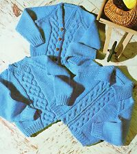 Baby Knitting Pattern Vintage Chunky Cardigan and Sweater  size 22- 26 inch #401