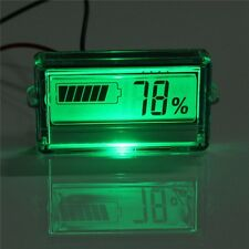Waterproof LCD Battery Capacity Tester Indicator 12V Lead-acid Lithium