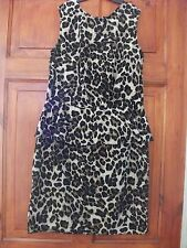 Leopard  print  peplum party  dress   size 10  NEW