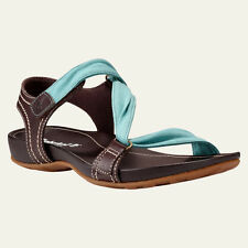 TIMBERLAND TB08208A Lola Bay Slide Women Sandals Size 6 M Brown Teal Blue