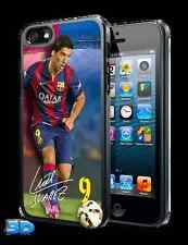 Luis SUAREZ 3D IPHONE 5 o 5S Custodia Rigida Ufficiale Barcellona Merce Nuova