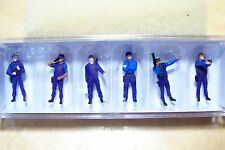 HO Preiser 10396 U.S SWAT TEAM / POLICE Figures ( Various Weapons )